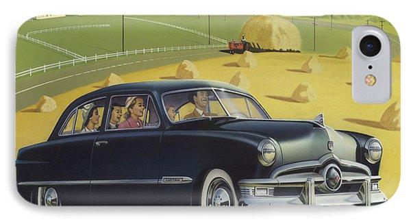 1950 Custom Ford Blank Greeting Card IPhone Case by Walt Curlee