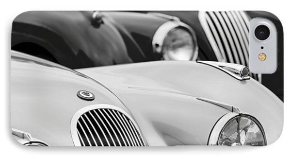 1950 Jaguar Xk120 Roadster Grille 2 Phone Case by Jill Reger