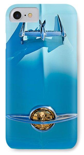 1950 Oldsmobile Hood Ornament Phone Case by Jill Reger