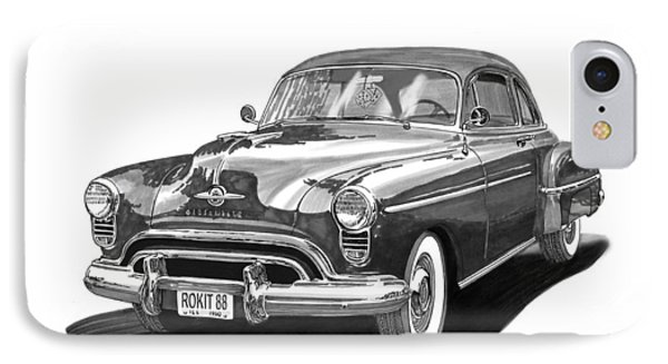 1950 Oldsmobile Rocket 88 IPhone Case by Jack Pumphrey