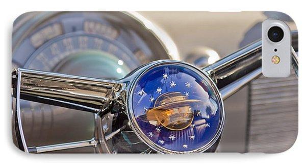 1950 Oldsmobile Rocket 88 Steering Wheel Phone Case by Jill Reger