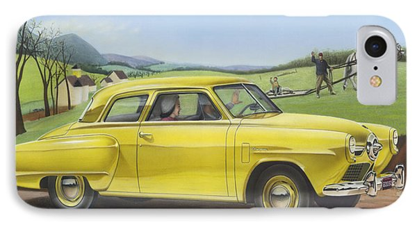 1950 Studebaker Champion Blank Greeting Card IPhone Case by Walt Curlee