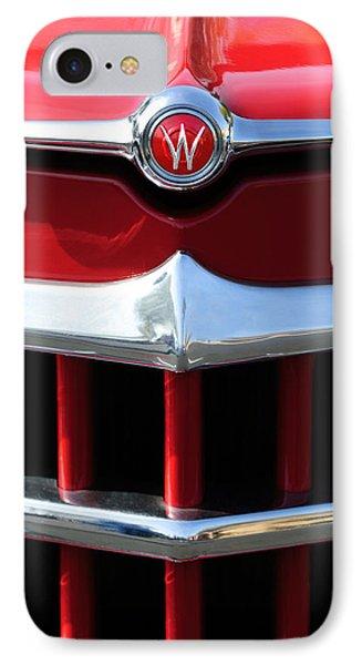 1950 Willys Overland Jeepster Hood Emblem Phone Case by Jill Reger