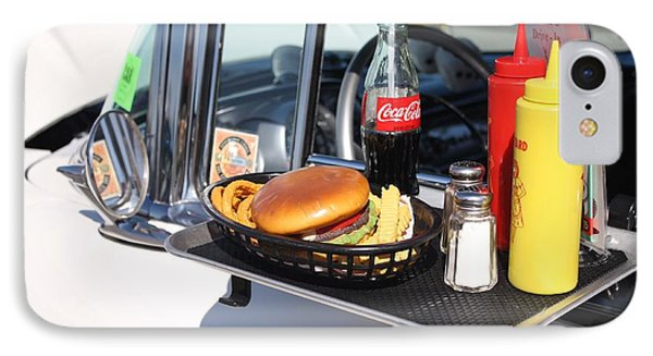 1950's Drive In Movie Snack Tray IPhone Case by John Telfer