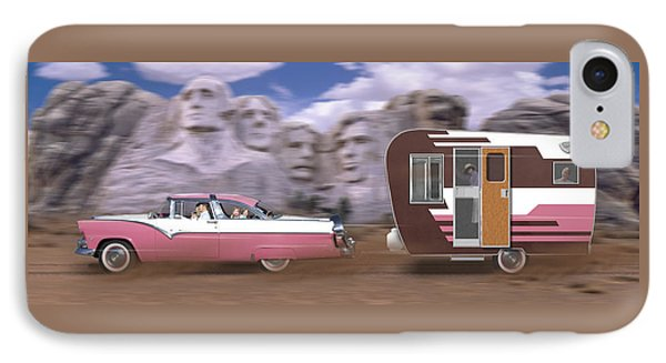 1950s Family Vacation Panoramic Phone Case by Mike McGlothlen