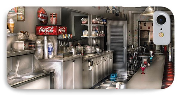 1950's - The Soda Fountain Phone Case by Mike Savad