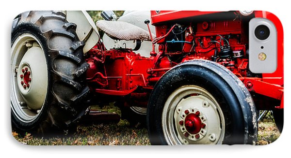 1950s-vintage Ford 601 Workmaster Tractor IPhone Case by Jon Woodhams