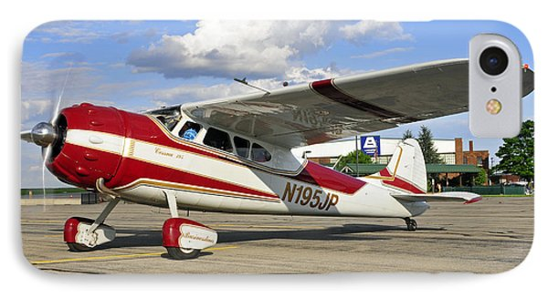 1951 Cessna 195 IPhone Case by Dan Myers