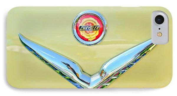 1951 Chrysler New Yorker Convertible Emblem Phone Case by Jill Reger