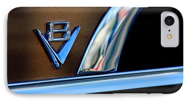 1951 Ford Crestliner V8 Emblem Phone Case by Jill Reger