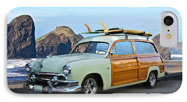 1951 Ford 'woody' Wagon Phone Case by Dave Koontz