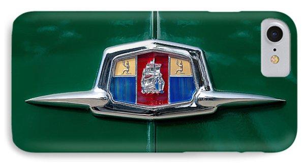 1951 Plymouth Suburban Emblem IPhone Case by Jill Reger