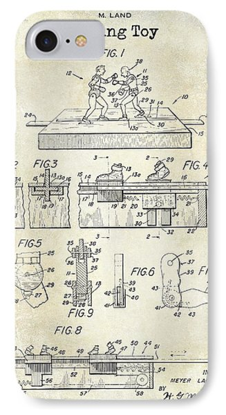 1952 Boxing Toy Patent Drawing IPhone Case