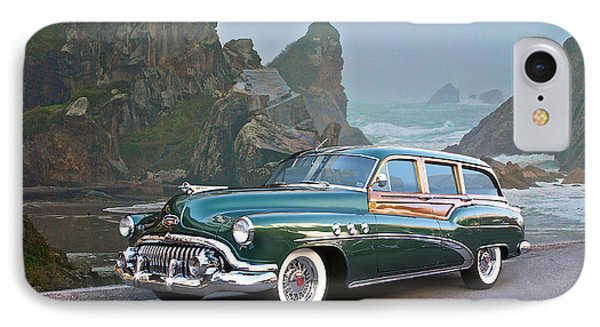1952 Buick 'woody' Estate Wagon Phone Case by Dave Koontz
