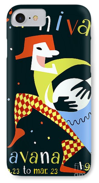 1952 Carnaval Vintage Travel Poster IPhone Case by Jon Neidert