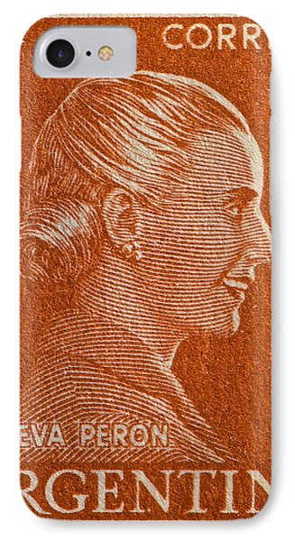 1952 Eva Peron Argentina Stamp IPhone Case
