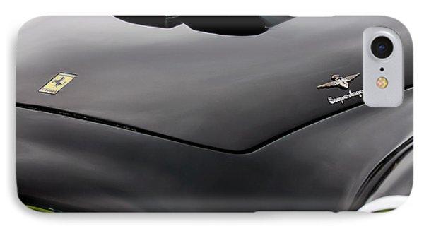 1952 Ferrari 212 225 Barchetta Hood Emblems IPhone Case by Jill Reger