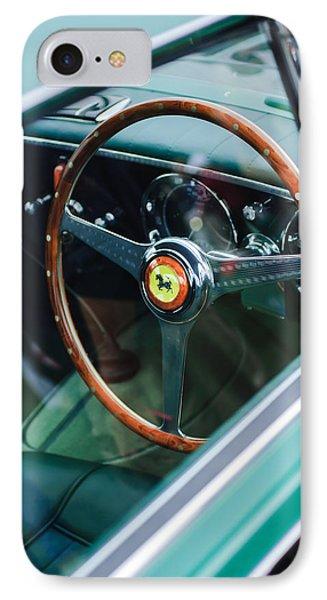 1952 Ferrari 212 Inter Vignale Coupe Steering Wheel Emblem IPhone Case by Jill Reger