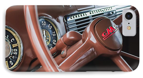 1952 Gmc Suburban Steering Wheel Emblem IPhone Case by Jill Reger