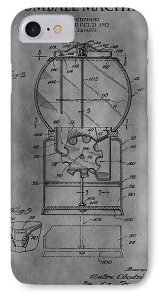 1952 Gumball Machine Patent IPhone Case by Dan Sproul