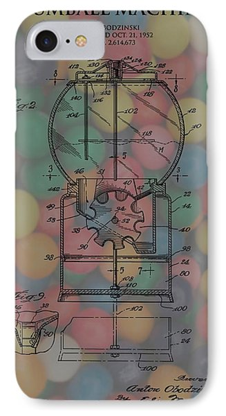 1952 Gumball Machine Patent Poster IPhone Case by Dan Sproul