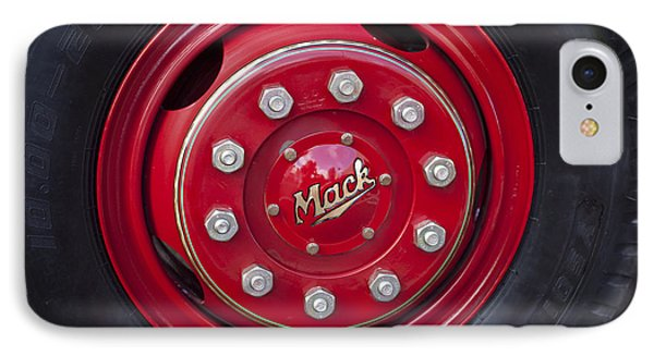 1952 L Model Mack Pumper Fire Truck Wheel IPhone 7 Case by Jill Reger