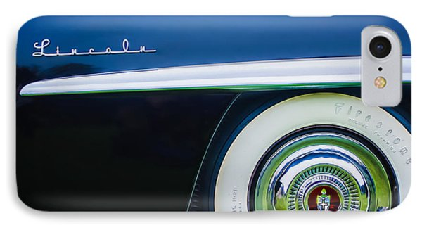 1952 Lincoln Derham Town Wheel Emblem -0416c IPhone Case