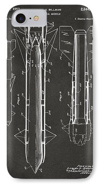 1953 Aerial Missile Patent Gray Phone Case by Nikki Marie Smith