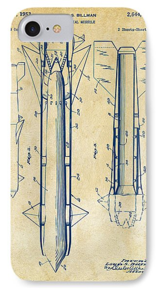 1953 Aerial Missile Patent Vintage Phone Case by Nikki Marie Smith