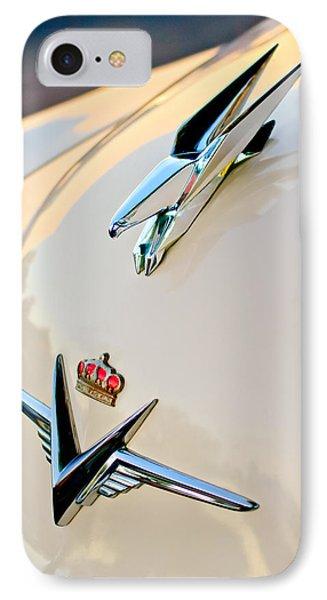 1953 Chrysler Imperial Custom Hood Ornament Phone Case by Jill Reger