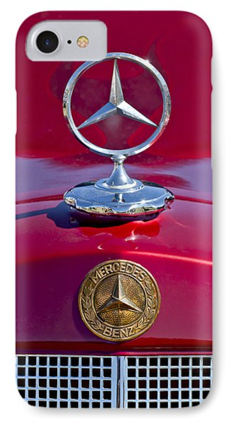 1953 Mercedes Benz Hood Ornament IPhone Case by Jill Reger