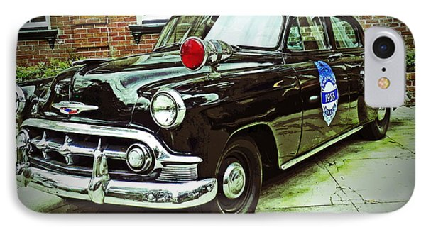 1953 Police Car IPhone Case by Patricia Greer