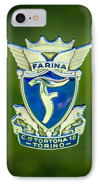 1953 Siata Daina Farina Emblem IPhone Case by Jill Reger