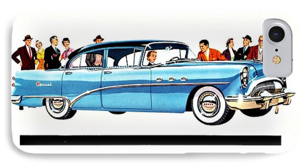 1954 Buick Ad IPhone Case by Allen Beilschmidt