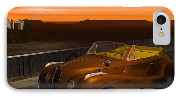 IPhone Case featuring the digital art 1954 Cabriolet by John Pangia