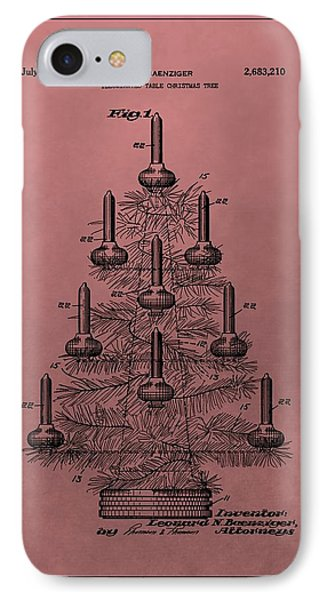 1954 Christmas Tree Patent IPhone Case by Dan Sproul