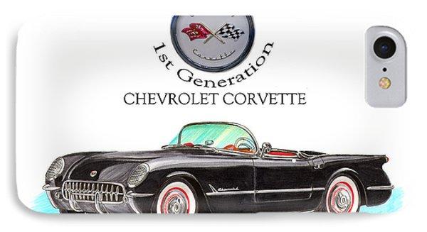 Corvette First Generation Phone Case by Jack Pumphrey