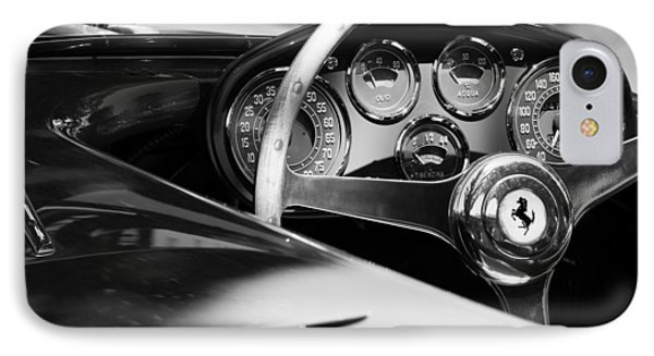 1954 Ferrari 500 Mondial Spyder Steering Wheel Emblem IPhone Case by Jill Reger