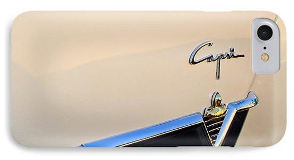 1954 Lincoln Capri Convertible Emblem 2 IPhone Case by Jill Reger