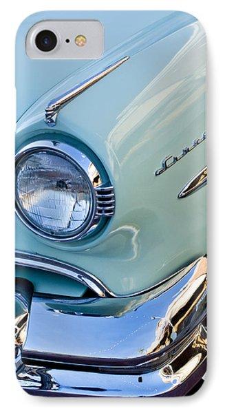 1954 Lincoln Capri Headlight IPhone Case by Jill Reger