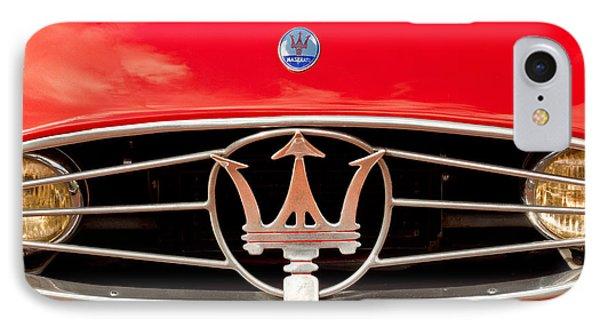 1954 Maserati A6 Gcs Grille Emblem -0259c IPhone Case by Jill Reger