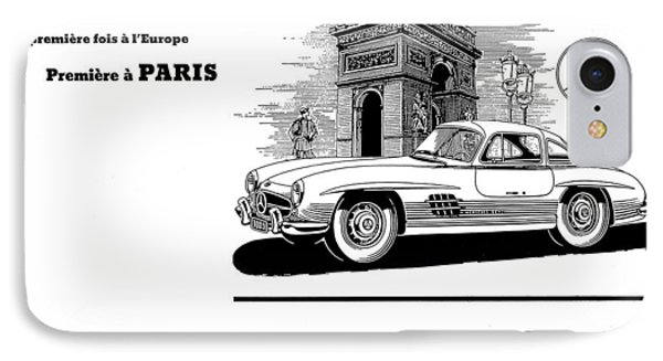 1954 Mercedes Benz IPhone Case by Allen Beilschmidt