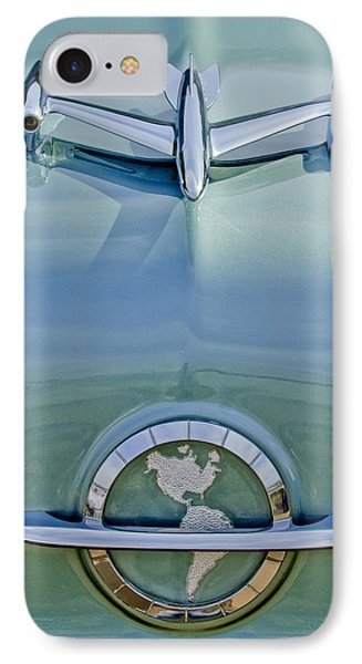 1954 Oldsmobile Super 88 Hood Ornament IPhone Case by Jill Reger