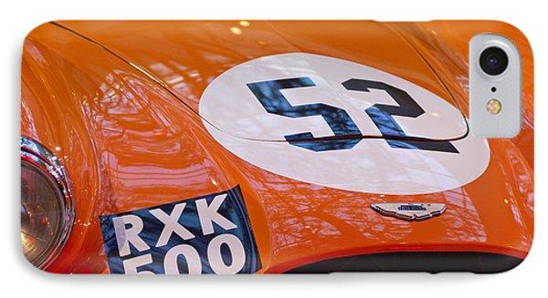1955 Aston Martin Db3s Sports Racing Car Hood 2 Phone Case by Jill Reger