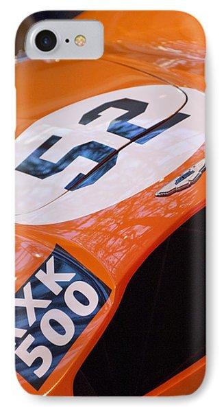 1955 Aston Martin Db3s Sports Racing Car Hood Phone Case by Jill Reger