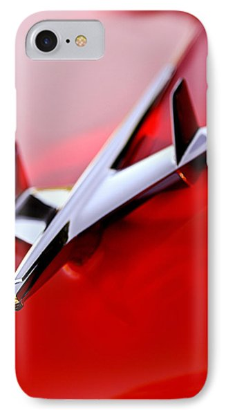 1955 Chevrolet Belair Nomad Hood Ornament Phone Case by Jill Reger