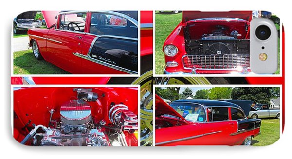 IPhone Case featuring the photograph 1955 Chevrolet Sedan Collage by Margaret Newcomb