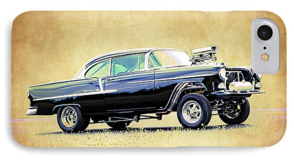 1955 Chevy Gasser IPhone Case by Steve McKinzie