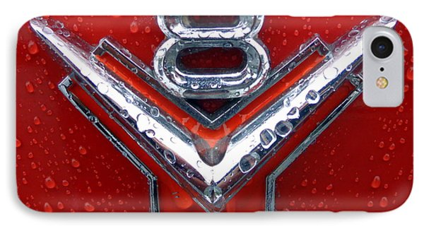 IPhone Case featuring the photograph 1955 Ford V8 Emblem by Joseph Skompski
