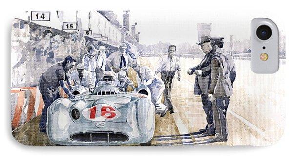 1955 Mercedes Benz W 196 Str Stirling Moss Italian Gp Monza IPhone Case by Yuriy  Shevchuk